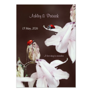 Ladybird Love  Wedding Invitation