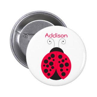 Ladybird Name badge Buttons