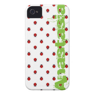 ladybird over white with green name iPhone 4 Case-Mate case