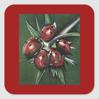 Ladybird Products Square Sticker