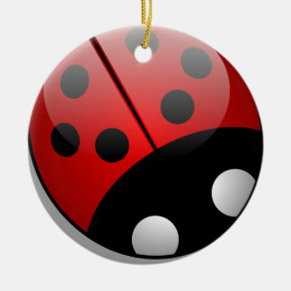 Ladybird Round Ceramic Decoration