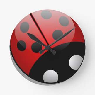 Ladybird Round Clock