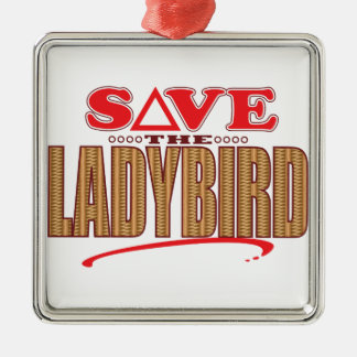 Ladybird Save Christmas Ornament