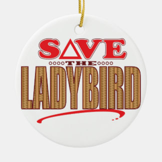 Ladybird Save Round Ceramic Decoration