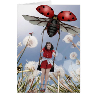 Ladybird swing card