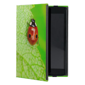 Ladybird walking across a leaf iPad mini cover