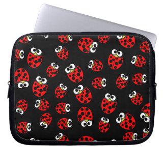 Ladybirds Black Laptop Sleeves
