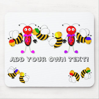 Ladybirds Ladybugs and Bees Cute Mousepad Design