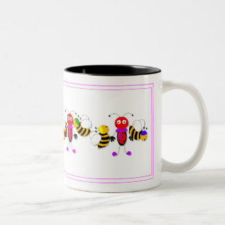 Ladybirds Ladybugs and Bees Cute Mug Design