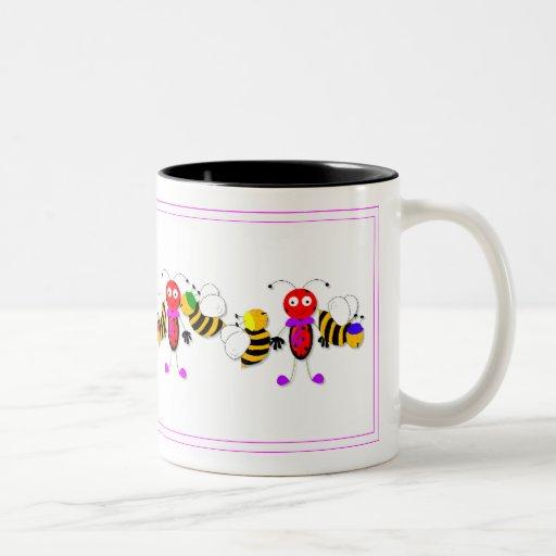 Ladybirds Ladybugs And Bees Cute Mug Design Zazzle