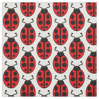 Ladybirds red and black ladybird pattern fabric