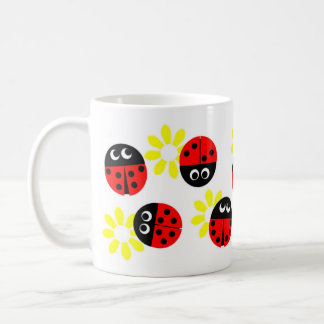 Ladybirds Who Lunch Basic White Mug