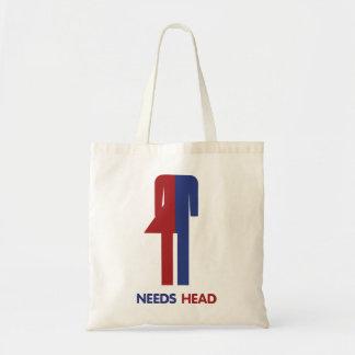 Ladyboy Needs Head Tote Bag