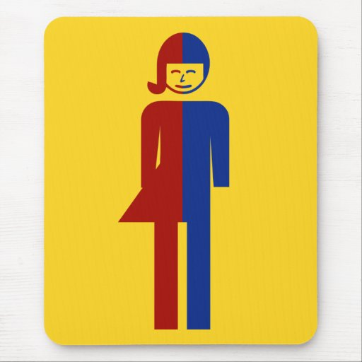 Ladyboy / Tomboy Toilet ⚠ Thai Sign ⚠ Mousepad