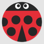 ladybug 1 round stickers