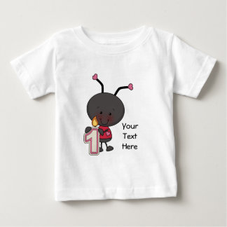 Ladybug 1 Year (customizable) Baby T-Shirt