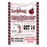 Ladybug 1st Birthday Invitations