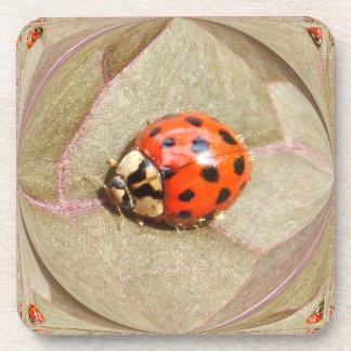 Ladybug 226 Cork Coaster
