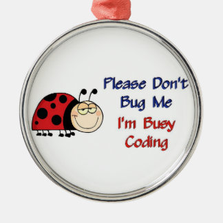 Ladybug-2 Medical Coder Silver-Colored Round Decoration