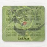 Ladybug 2 Year 2015-2016 Calendar Mousepad Mouse Pad