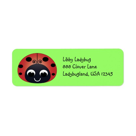 Ladybug Address Label