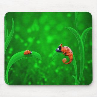 Ladybug and Chameleon Mouse Mat