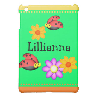 Ladybug and Flowers Cover For The iPad Mini