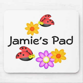 Ladybug and Flowers Mouse Mat