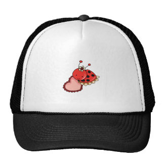 LADYBUG AND HEART TRUCKER HAT