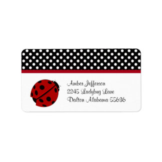 Ladybug and Polka-dot Address Labels