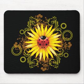 Ladybug and Sunflower Mousepad