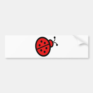 Ladybug Art Bumper Sticker