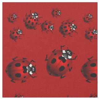Ladybug Art Fabric Ladybird Fabric Cotton or Poly