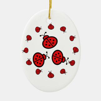 Ladybug Art Gifts Ceramic Oval Decoration