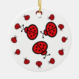 Ladybug Art Gifts Christmas Ornament