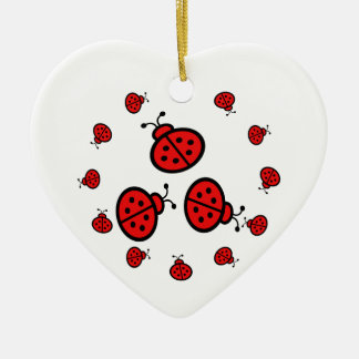 Ladybug Art Gifts Christmas Ornament