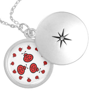 Ladybug Art Gifts Locket Necklace