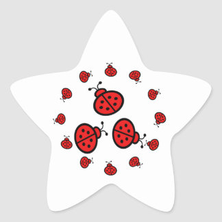 Ladybug Art Gifts Star Sticker