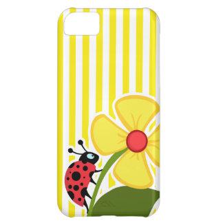 Ladybug; Aureolin Yellow Stripes; Striped iPhone 5C Cases