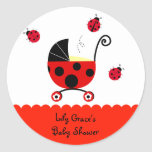 Ladybug Baby Shower Favour Stickers Labels