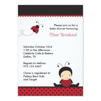 Ladybug Baby Shower Invitations Announcements