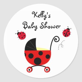 Ladybug Baby Shower Stickers Labels