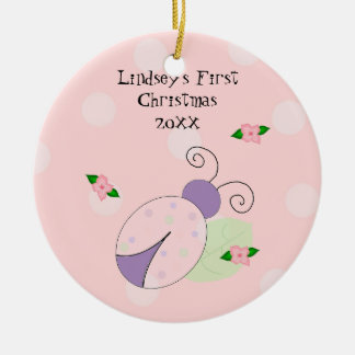 Ladybug Baby's First Christmas Christmas Ornament
