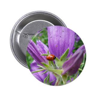 Ladybug 6 Cm Round Badge