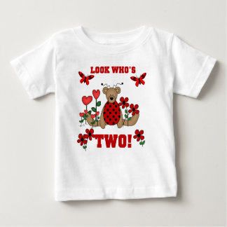 Ladybug Bear 2nd Birthday Baby T-Shirt