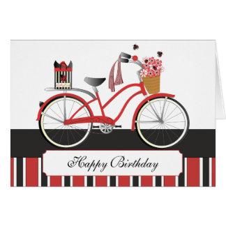 Ladybug Bicycle Card