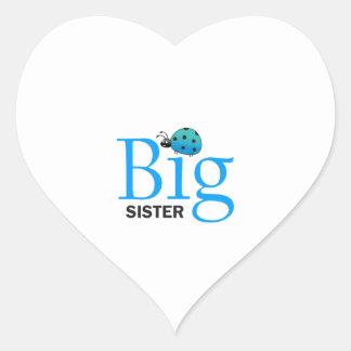 LADYBUG BIG SISTER HEART STICKER