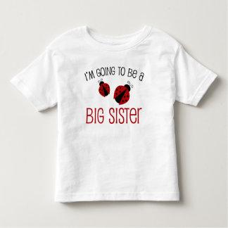 Ladybug Big Sister to Be Toddler T-Shirt
