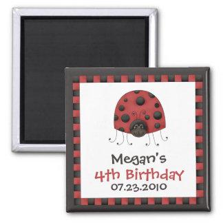 Ladybug • Birthday Invitation Magnet