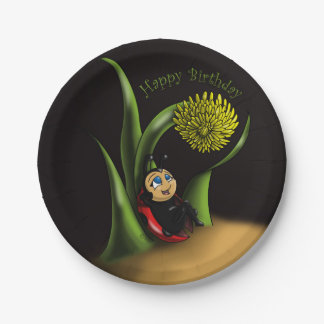 Ladybug Birthday Paper Plates 7 Inch Paper Plate